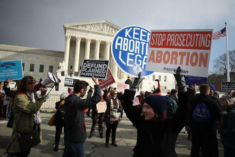 Pro Choice Demonstration Outside Captiol
